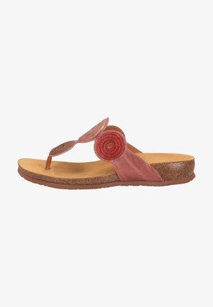 Sandaler m/ kilehæl - rosa/kombi