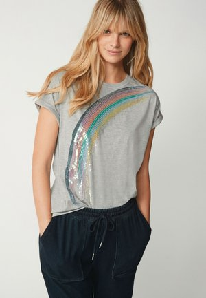 RAINBOW  - Print T-shirt - grey