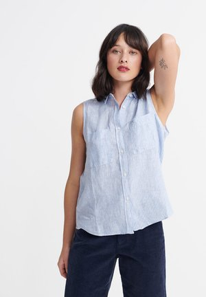 SUPERDRY AUBREY SHIRT - Button-down blouse - blue