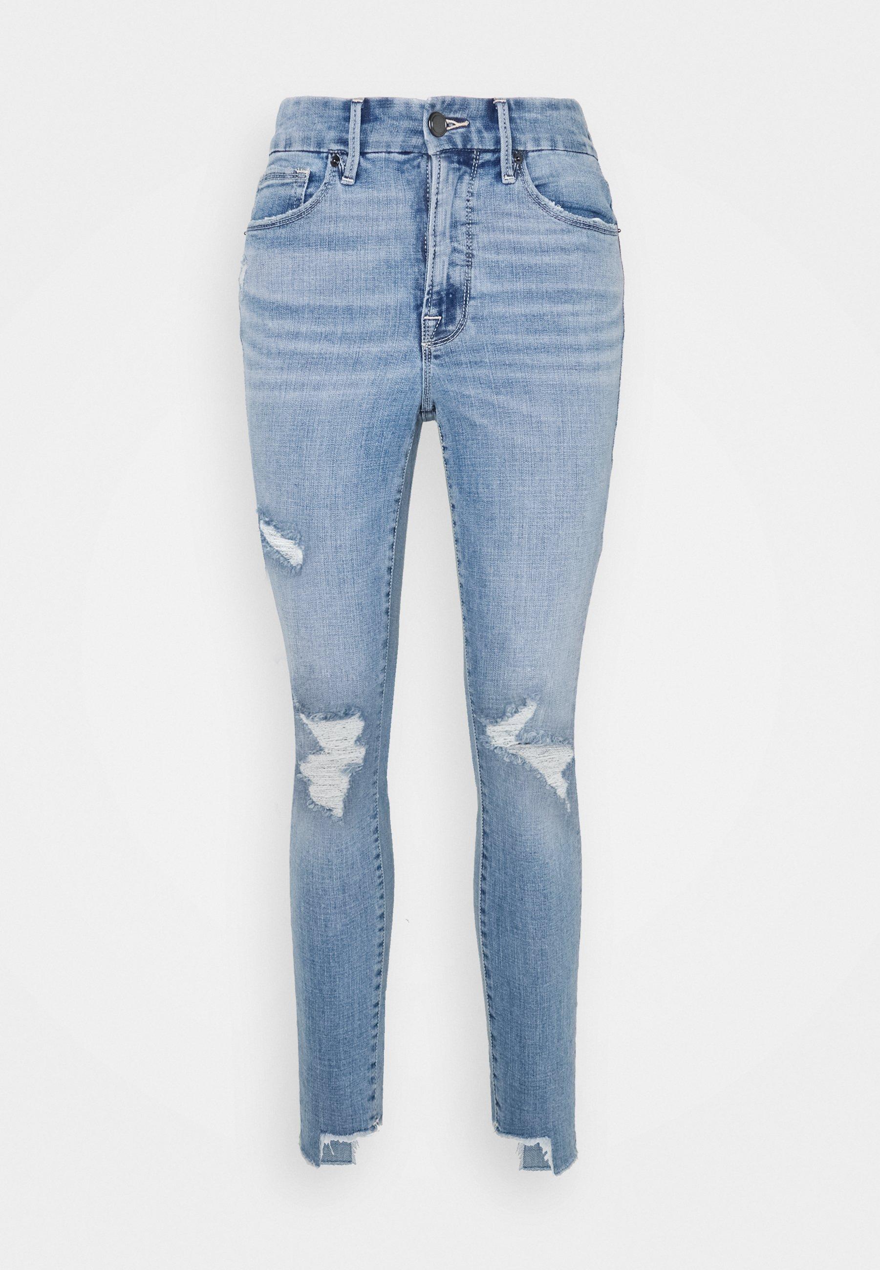 Damen LEGS CROP SIDE STEP - Jeans Skinny Fit
