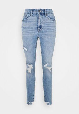 LEGS CROP SIDE STEP - Jeans Skinny Fit - blue