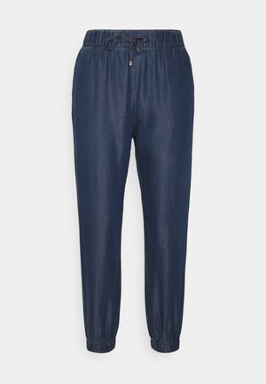 ONLTESSA SMOCK PANTS - Trousers - dark blue denim