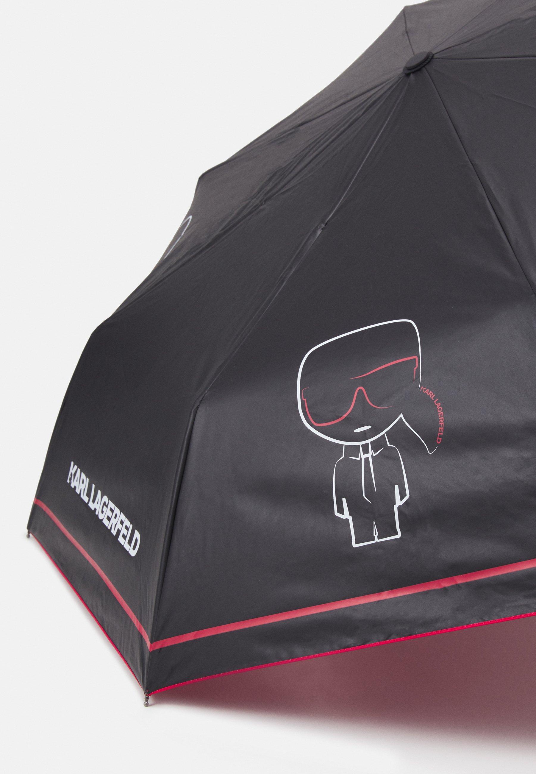KARL LAGERFELD IKONIK OUTLINE UMBRELLA - Paraply - black/svart ZjC9yD6RS2H2wJv