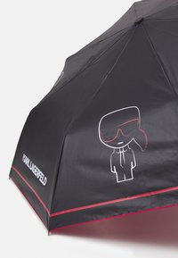 KARL LAGERFELD - IKONIK OUTLINE UMBRELLA - Schirm - black - 2