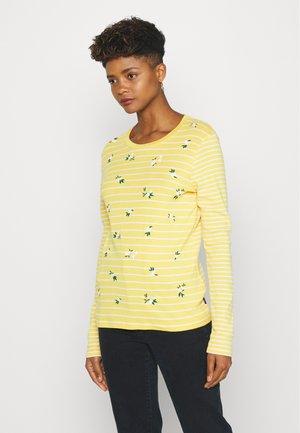 STRIPE - Top sdlouhým rukávem - yellow