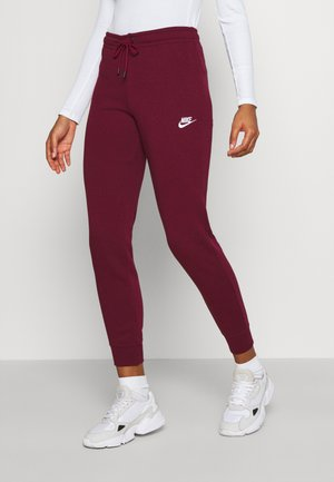 PANT TIGHT - Tracksuit bottoms - dark beetroot/white