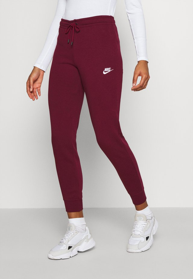 Pantalon de survêtement - dark beetroot/white