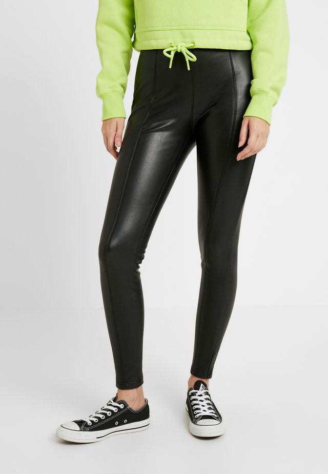 LADIES SKINNY PANTS - Kangashousut - black