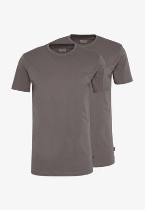 2 PACK - Basic T-shirt - dark grey