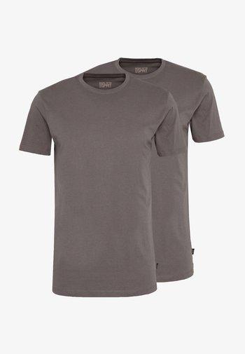 2 PACK - Basic T-shirt - dark grey