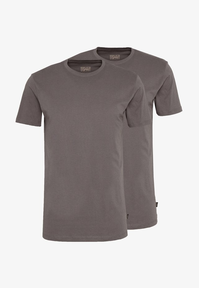 2 PACK - T-shirts - dark grey