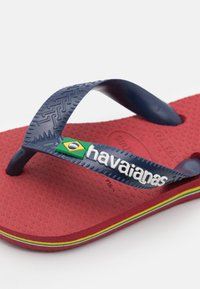 Havaianas - BRASIL LOGO - Pool shoes - red, blue - 5