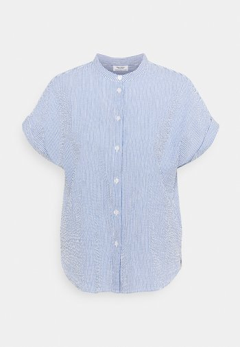 BLOUSE STRIPES STAND UP COLLAR - Button-down blouse - multi/intense blue