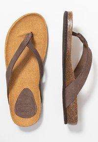 Scholl - TISTOIS - T-bar sandals - marron fonce - 3