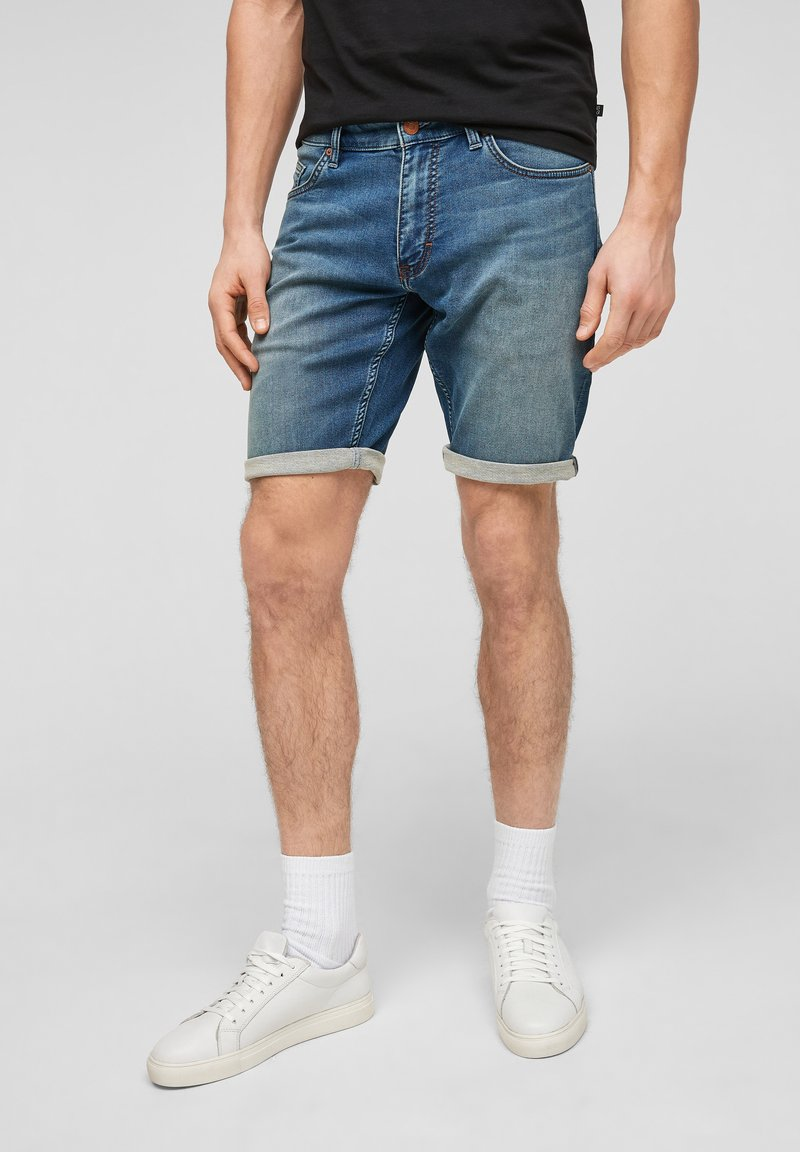 Q/S designed by - Denim shorts - blue