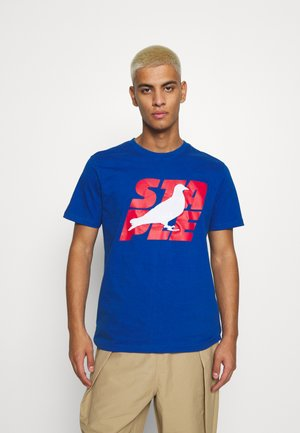 STACKED LOGO TEE UNISEX - T-shirt con stampa - royal