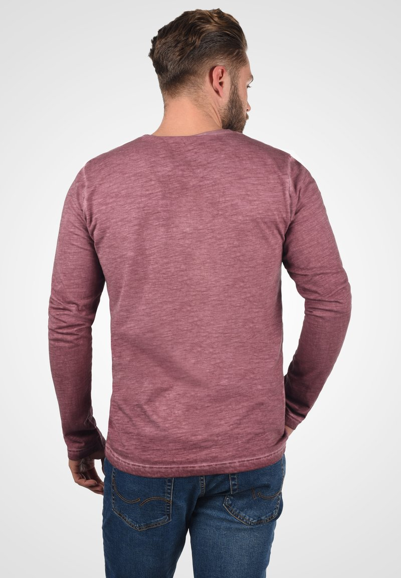 Solid Langarmshirt - wine red/bordeaux 8Par09