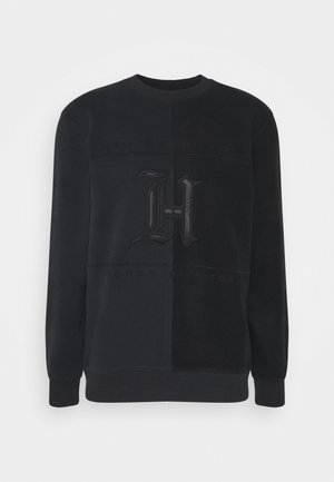 LEWIS HAMILTON UNISEX TONAL FLEECE CREW NECK - Felpa in pile - black