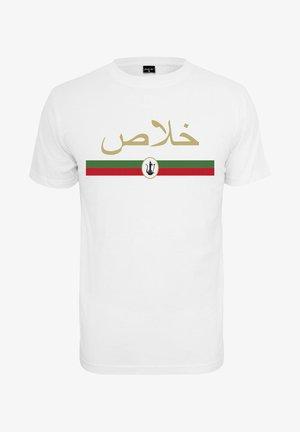KHALAS - T-shirt z nadrukiem - white