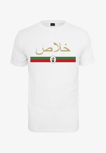 KHALAS - Print T-shirt - white