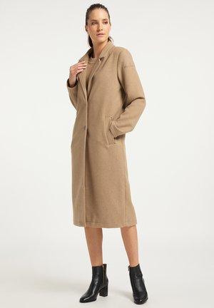Płaszcz wełniany /Płaszcz klasyczny - beige melange