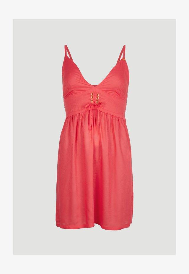 Korte jurk - hot coral