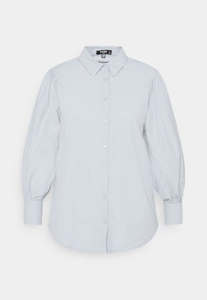 SLEEVE SHIRT - Button-down blouse - blue