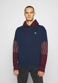 adidas Originals - SUMMER HOODY - Sweat à capuche - conavy/maroon - 0