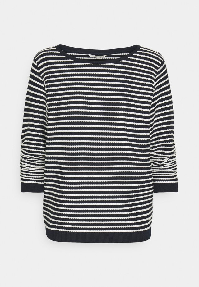 STRIPED - Jumper - blue/beige