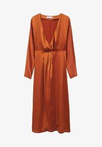 Mango - FLIESSENDES - Cocktail dress / Party dress - bräunliches orange - 5