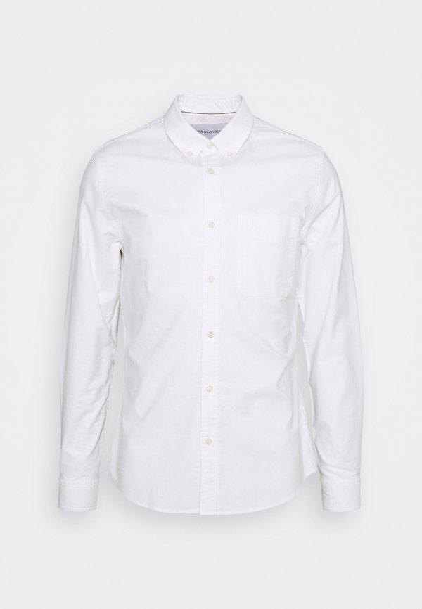 Calvin Klein Jeans OXFORD SOLID SLIM - Koszula - bright white/biały Odzież Męska ZNRH