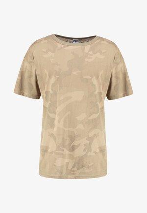 CAMO OVERSIZED - T-shirt print - sand