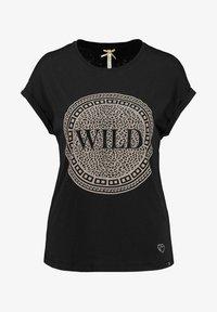 Key Largo - WT CIRCLE - Print T-shirt - schwarz - 0