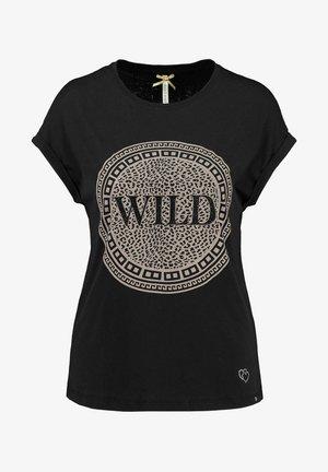 WT CIRCLE - Print T-shirt - schwarz