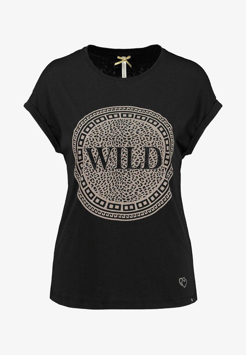 Key Largo - WT CIRCLE - Print T-shirt - schwarz