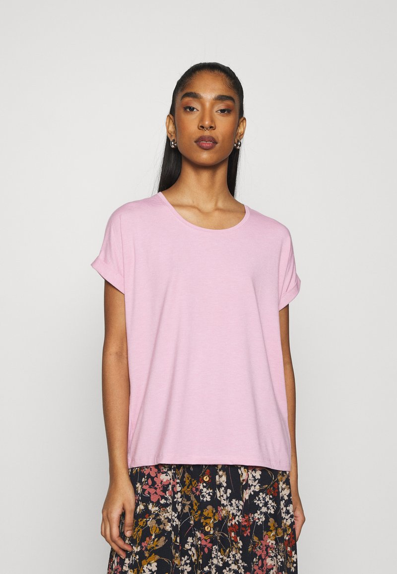 ONLY - ONLMOSTER ONECK - T-shirts - soft pink