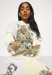 NEW girl ORDER - YIN YANG DRAGON PANEL HOODY - Sweatshirt - cream - 4