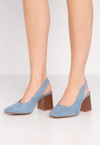 Simply Be - WIDE FIT LEXI - Escarpins - dusky blue - 0
