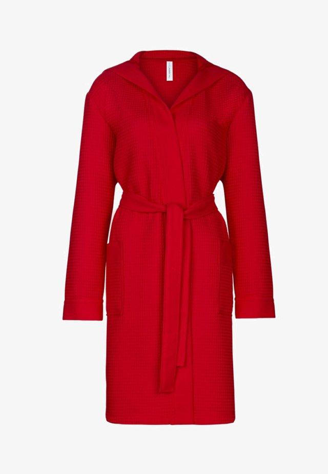 MIT KAPUZE  - Dressing gown - rot