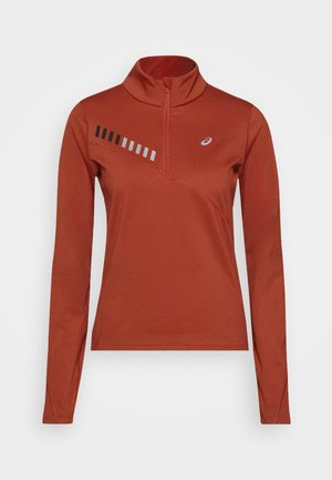 LITE SHOW WINTER ZIP - Camiseta de deporte - spice latte/graphite grey