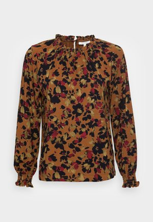 FITZROY FRILL NECK TOP - Blůza - toffee brown