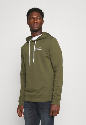 LONG SLEEVE HOOD TEXT LOGO RELAXED FIT - Hoodie - asher tree