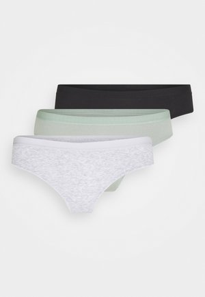 BRASILIANO BRIEF 3 PACK - Slip - grey marle/black/aloe washed