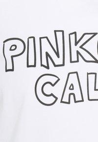 Pinko - ESTIMO - T-shirt imprimé - radiant white - 7