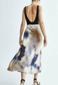 Massimo Dutti - A-line skirt - dark blue - 1