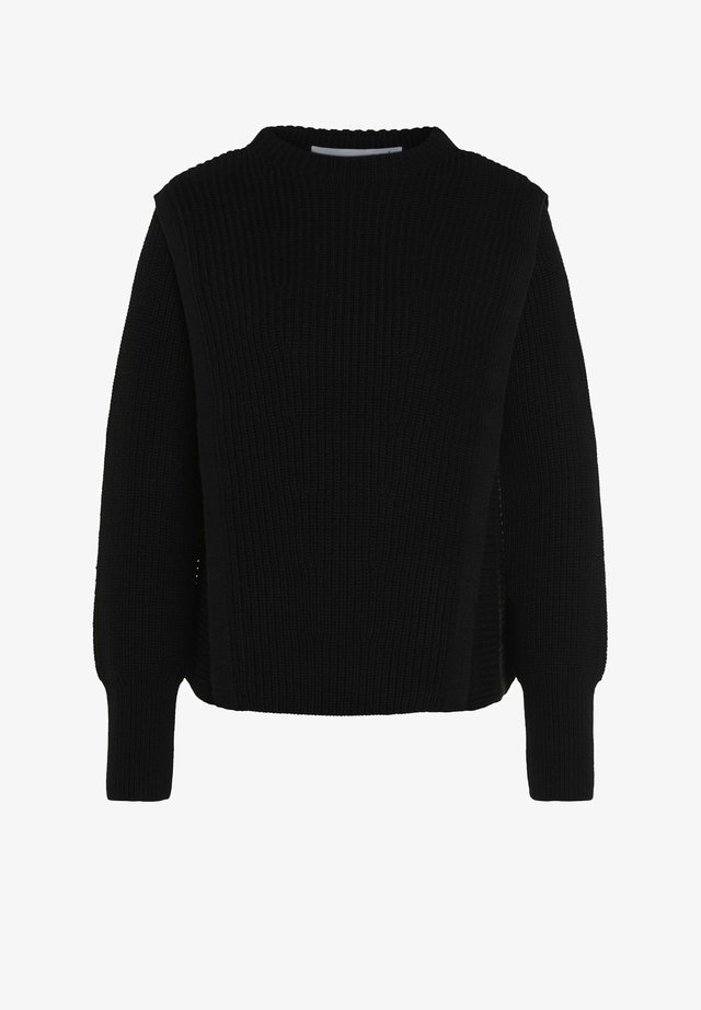 IN SPORTIVEM SCHNITT - Long sleeved top - black