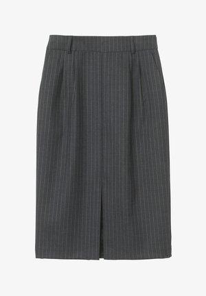 CELIA  - Pencil skirt - grey pinstripe