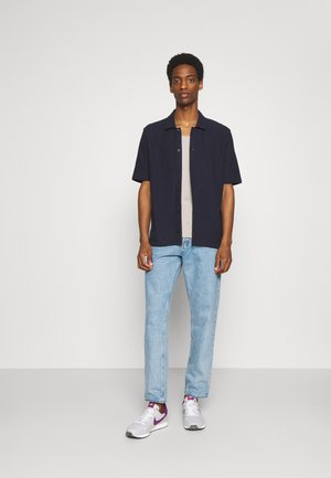 SLHNEWMERCE O NECK TEE 2 PACK - T-shirt - bas - navy blazer/dove melange