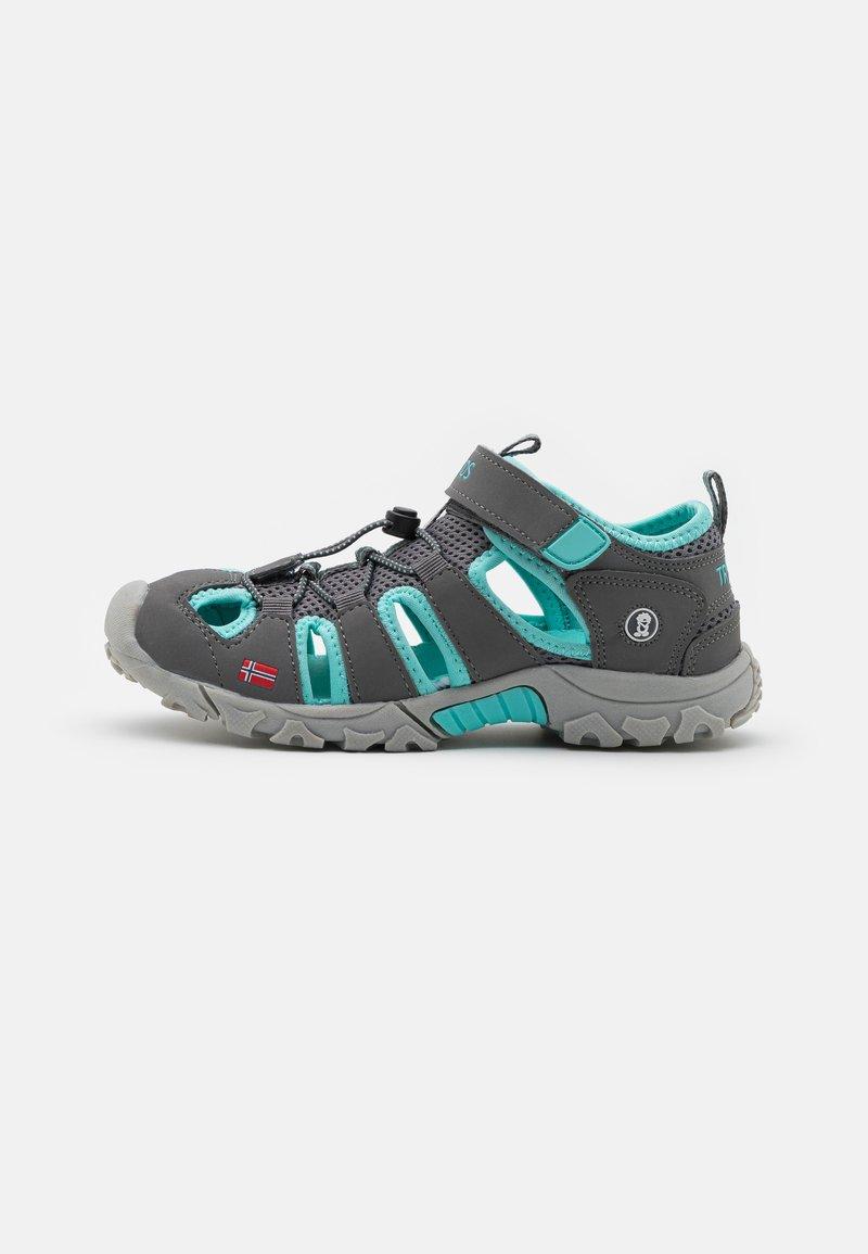 TrollKids - KIDS KRISTIANSAND UNISEX - Walking sandals - grey/mint