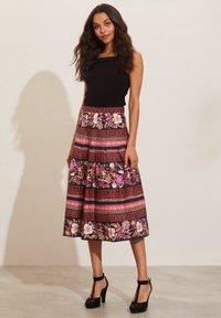 Odd Molly - REBECCA - A-line skirt - almost black - 3